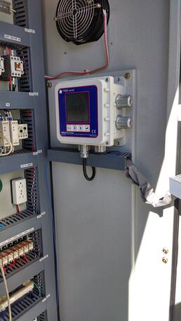 Triboelectric monitoring display being used for continuous emissions monitoring